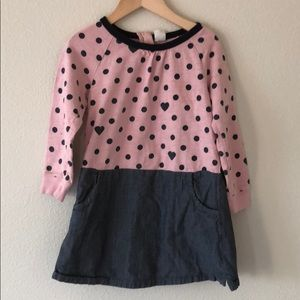 Gap pink/denim dress